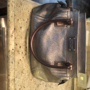 Silver metallic Kate Spade purse